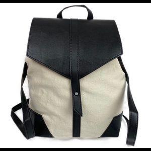 DEUX LUX Vegan & Canvas Satchel Backpack